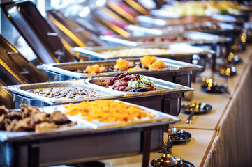 Photo sur Aluminium Buffet, Bar buffett tisch