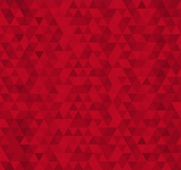 Red triangle tiles seamless pattern, vector background.