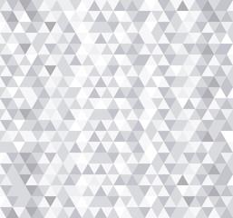 Modèle sans couture de carreaux triangle blanc, fond de vecteur.