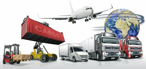 Spedition, Logistik, Truck,Containerstapler, Kleintransporter, F