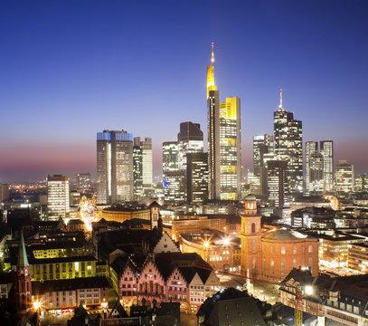 Frankfurt city skyline