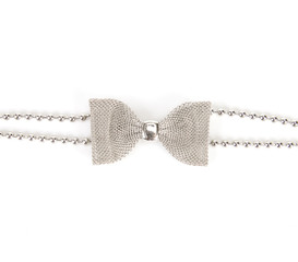 metal bow on white background