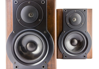 Pair of modern music speakers