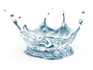 Water Crown Splash isolated on white background