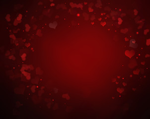 elegant red Valentine's background