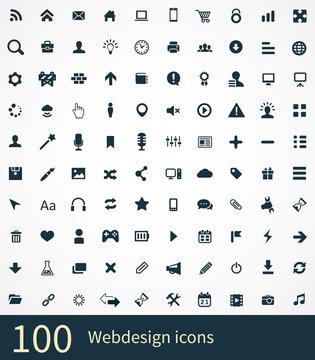 100 webdesign icons set