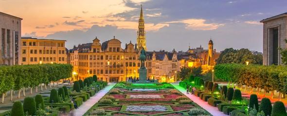 Bruxelles au coucher de soleil