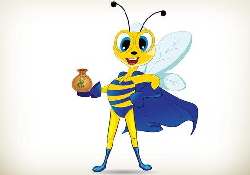 Fun Superhero Bee