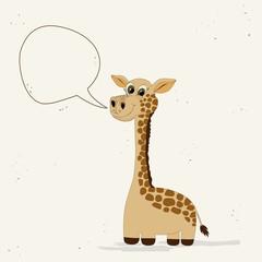 Cute giraffe with speech bubble