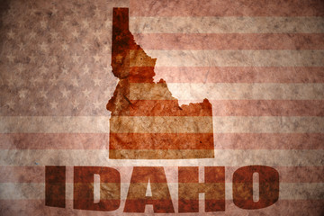 Vintage idaho map