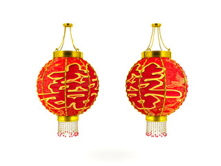 Chinese lanterns isolated