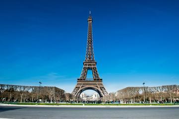 Eiffel tower in tourist off season