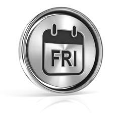 Friday metallic icon 3d render