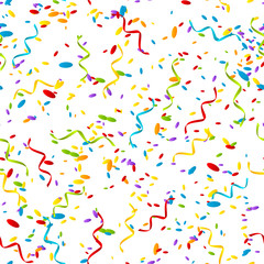 Seamless pattern with color confetti