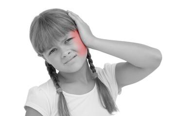 Little girl suffering from earache
