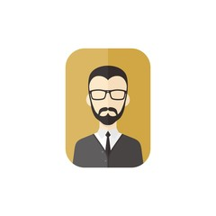 man cartoon character user picture avatar
