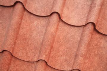 brown grain roof metal closeup texture