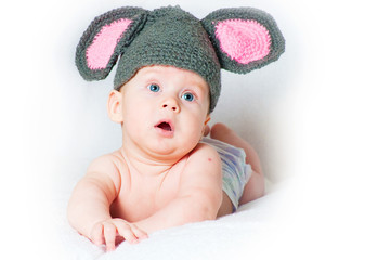 The amusing kid - a little mouse