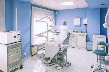 Dental Clinic Interior Working Boxes and Tools