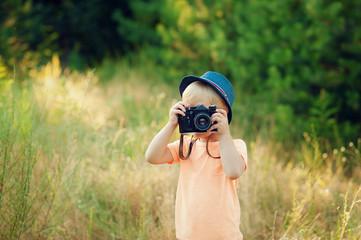 boy with a camera