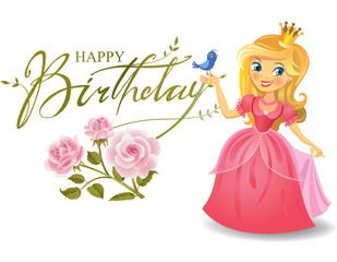 Happy Birthday, Princess, greeting card.