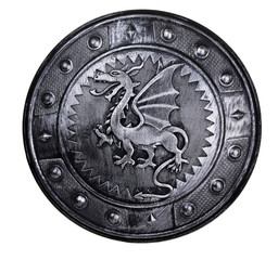 Round shield with dragon sign