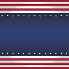 Vector square background USA flag colors. Equal sides.
