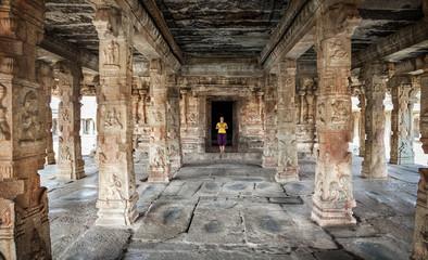 Woman in Hampi temple