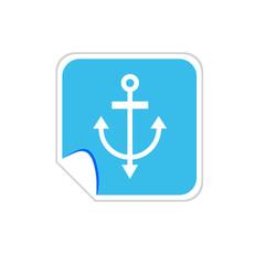 anchor blue vector