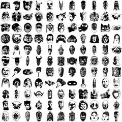 Set of Hundred High Detailed Vector Masks