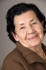 portrait of sweet loving happy grandmother