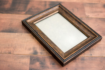 Wood frame on a wood background