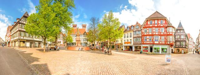 Bensheim Marktplatz 180° Panorama Fototapete