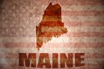 Vintage maine map