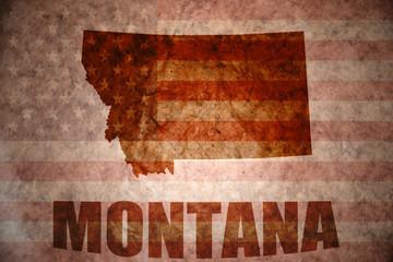 Vintage montana map