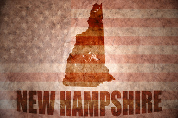 Vintage new hampshire map