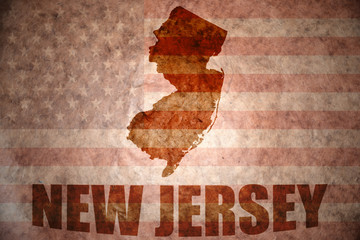 Vintage new jersey map