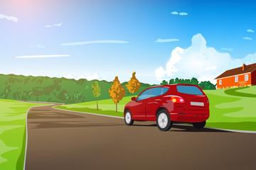 Fototapete - Car travel