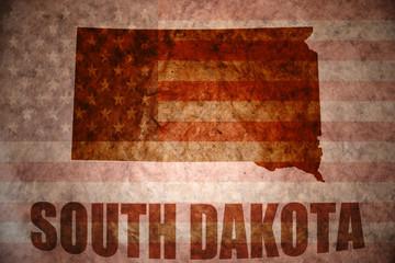 Vintage south dakota map