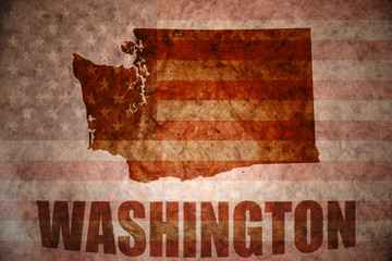 Vintage washington map