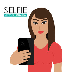 Selfie design, vector illustration.