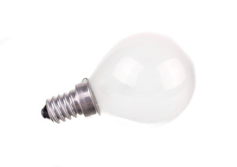 small incandescent light bulb isolated