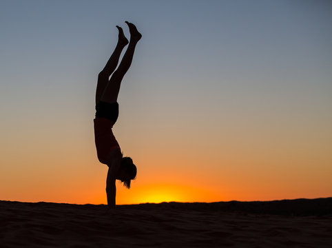 Sunrise handstand