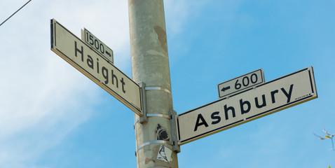 Haight - Ashbury street sign in San Francisco