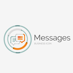 Thin line neat design logo, messages concept