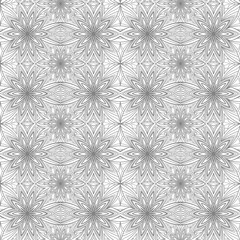 abstract geometric floral seamless pattern
