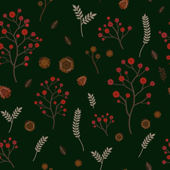 adorable floral seamless pattern