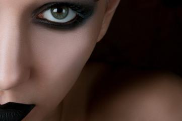 Poster Aquarel Schedel eye Makeup