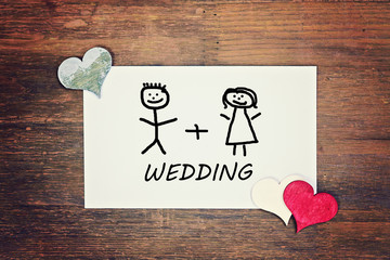 lovely greeting card - wedding