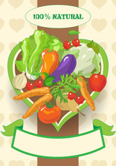 Vegetarian Foods with Banner